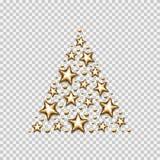 Золото рождества играет главные роли и отбортовывает в треугольнике на прозрачном backgr бесплатная иллюстрация