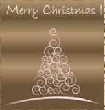 золото рождества карточки Стоковое Изображение