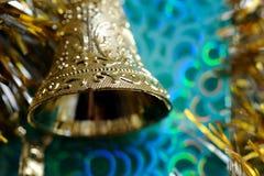 золото рождества колокола Стоковое Изображение