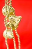 золото рождества колоколов Стоковые Фото