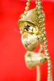 золото рождества колоколов Стоковое фото RF