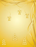 золото рождества предпосылки Стоковая Фотография