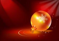 золото рождества шарика Стоковое Изображение RF