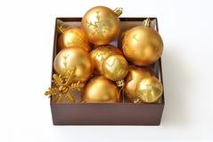 золото рождества шариков Стоковые Фотографии RF