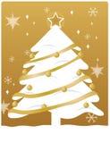 золото рождества Стоковые Изображения