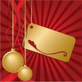золото рождества Иллюстрация штока