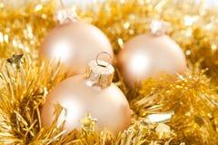 золото рождества baubles стоковое фото rf