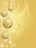 золото рождества предпосылки Стоковая Фотография RF