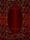 Золото с темнотой - красной предпосылкой сбора винограда стоковое фото