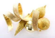 золото украшений рождества стоковое фото rf