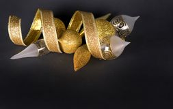 золото украшений рождества стоковое изображение