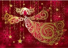 золото украшений рождества ангела Стоковое Изображение RF