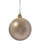 золото украшения рождества шарика Стоковое Изображение RF