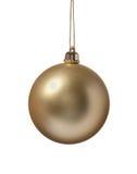 золото украшения рождества шарика Стоковая Фотография