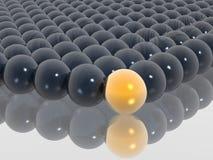 золото шарика различное Стоковое фото RF