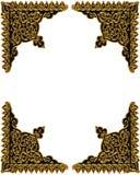 золото элемента конструкции углов иллюстрация штока
