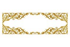 Золото элементов орнамента винтажное флористическое для украшения стоковая фотография rf