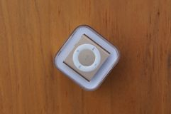 Золото Яблока iPod Shuffle Стоковые Изображения RF