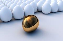 золото яичка Стоковая Фотография