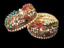 золото bangles этническое Стоковое Изображение