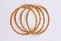 золото bangles Стоковая Фотография RF