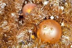 золото baubles Стоковые Изображения RF