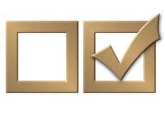 золото checkbox Стоковое Изображение RF