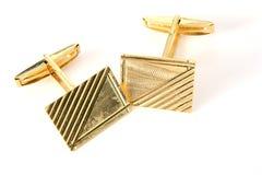 золото cufflinks Стоковые Фото