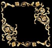 Золото frame4 стоковое изображение rf