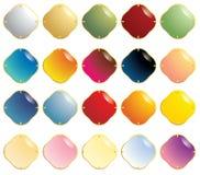 золото gemstones крепежной детали ровное иллюстрация вектора