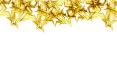 Золотые звезды разбрасывают торжество confetti блеска искры яркого блеска иллюстрация штока