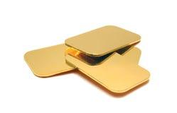золотые инготы Стоковое Изображение