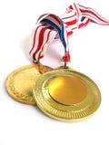 золотые медали Стоковое Фото