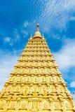 Золотые модели Bodhgaya стоковое изображение