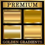 Золотые установленные градиенты бесплатная иллюстрация