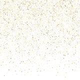 Золотые частицы шампанского пузырей искры яркого блеска играют главные роли на whit иллюстрация вектора