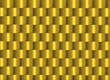 Золотые штабелированные цилиндры формируя рамку Стоковые Фото