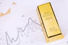 золот в слитках диаграммы Стоковое фото RF