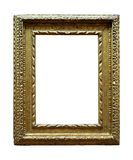 Золочение покрывая деревянную картинную рамку стоковое изображение rf