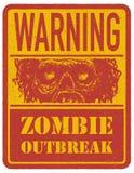 зомби больше моего знака портфолио подписывает предупреждение вычерченная рука вектор Стоковая Фотография
