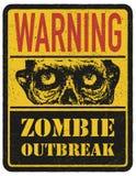 зомби больше моего знака портфолио подписывает предупреждение вычерченная рука вектор наличных дег e eps8 наслоенный иллюстрацией Стоковая Фотография