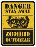 зомби больше моего знака портфолио подписывает предупреждение вычерченная рука вектор наличных дег e eps8 наслоенный иллюстрацией Стоковые Фотографии RF
