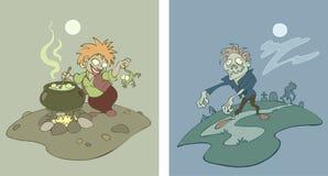 зомби ведьмы Стоковое Изображение RF
