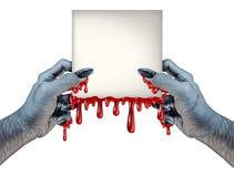 Зомби вручает знак Стоковые Изображения