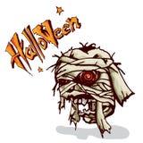 Зомби a мумии хеллоуина Стоковое Изображение