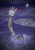 Зомби на хеллоуин - 3D представляют Стоковые Фотографии RF