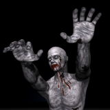 Зомби на хеллоуин - 3D представляют Стоковое Фото