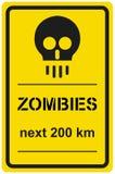 Зомби следующие 200 km знака вектора Стоковые Фото