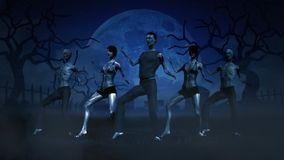 Зомби танцев иллюстрация штока