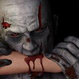 Зомби - укус Стоковые Изображения
